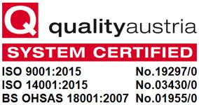 Qualitiy Austria Certificates